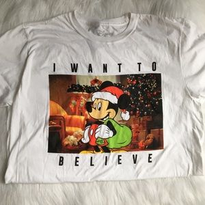 Disney Mickey Mouse I want to believe T shirt L